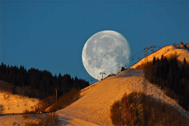 Moon over Ski Lift